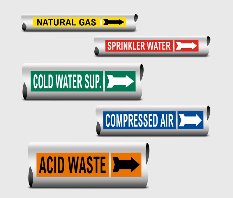 Self Adhesive Pipeline Identification Labels 2015